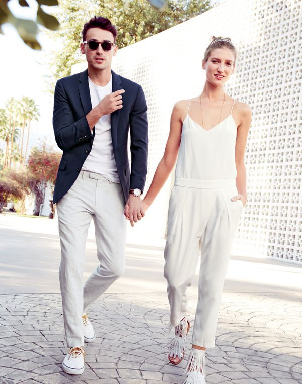 a4dccfdcc7d Wedding Rehearsal with yellow Birkenstocks perhaps! J.Crew women s crepe de  chine jumpsuit in ivory.