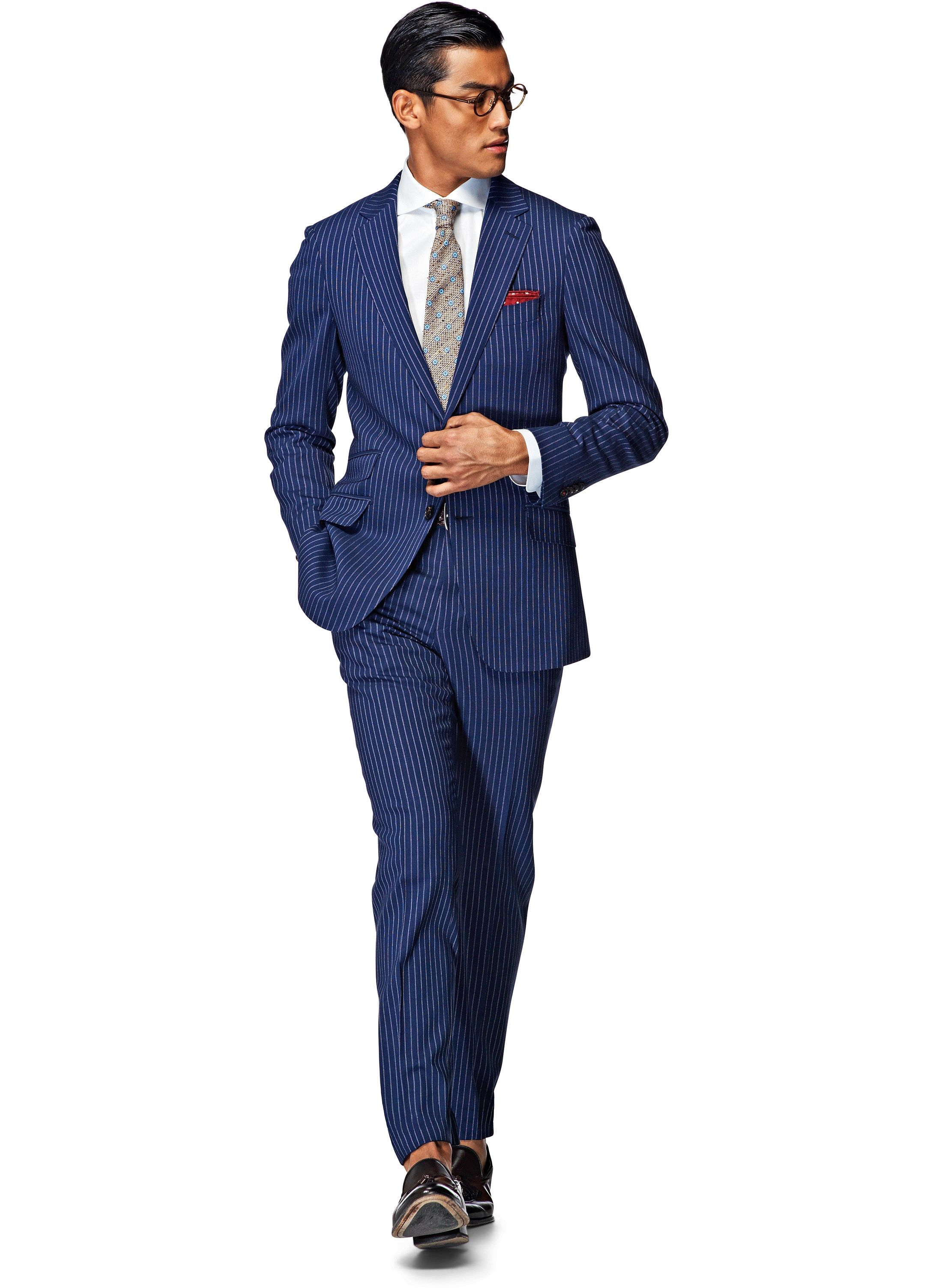 Suit Blue Stripe Sienna P3810i | Suitsupply Online Store | suits ...