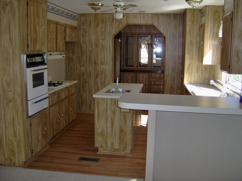 Manufactured Home Kitchens | Manufactured Home Kitchen Remodel   New  Hardwood Flooring And Interior .
