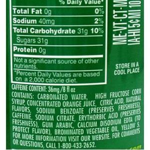 Image result for mountain dew ingredient labels