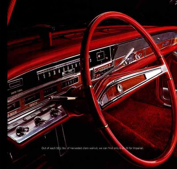1965 Chrysler Imperial Crown Red Interiors Thin Steering Wheel