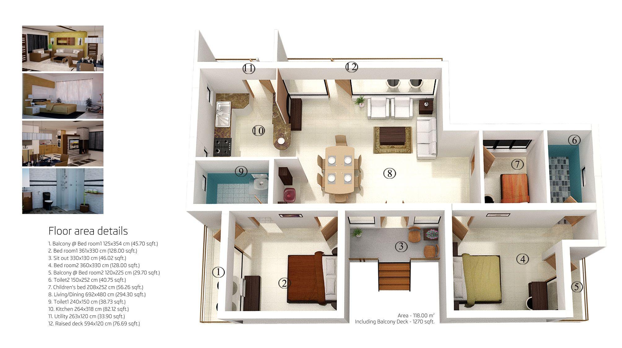 Face Holiday Village Villas In Ooty Brochure Page 10 Spring Dale Villa 2 Bhk Floor Plan