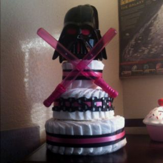 Star Wars diaper cake that was made for my Baby Shower ...