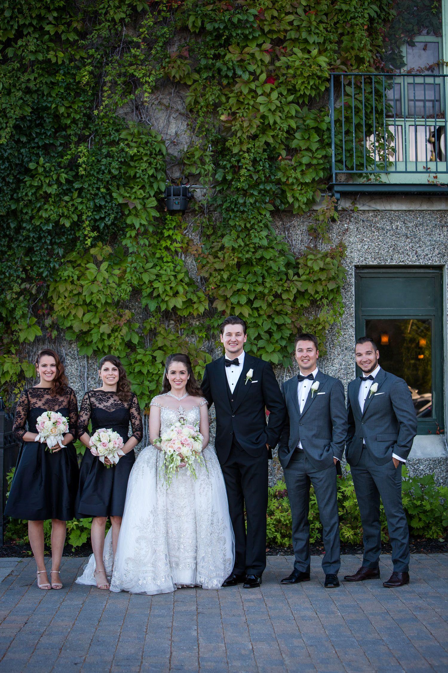 390469bec9 Bride  amp  Groom with Bridesmaids in Black Photography  Magnolia Studio  Read More  http