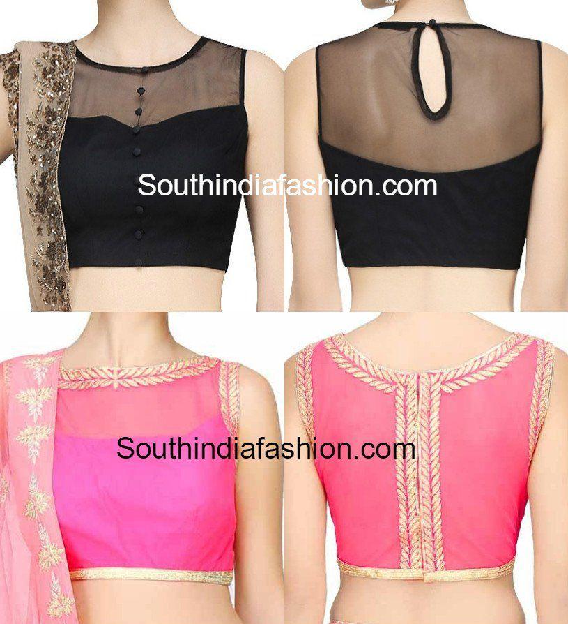 3d7d074417a3d5 Stunning Net Blouse Designs
