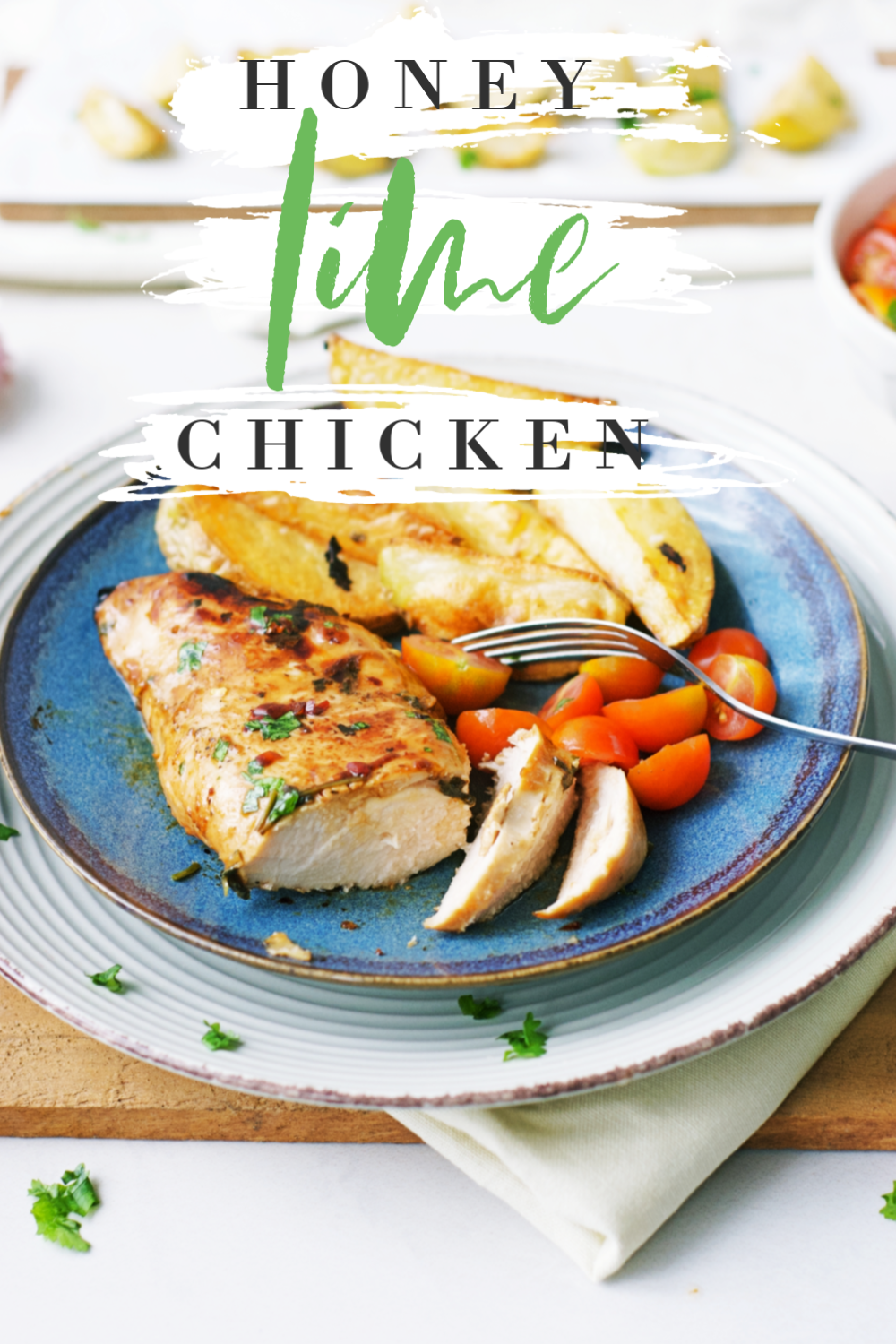 This Honey Lime Chicken recipe with cilantro, soy sauce, chili, and garlic is one of the best chicken recipes ever! It's SO DELICIOUS! The honey lime chicken marinade infuses the chicken with fresh, savory flavors and makes it truly juicy and moist! #chickenrecipes #chicken #cilantro #honey #lime #honeylimechicken