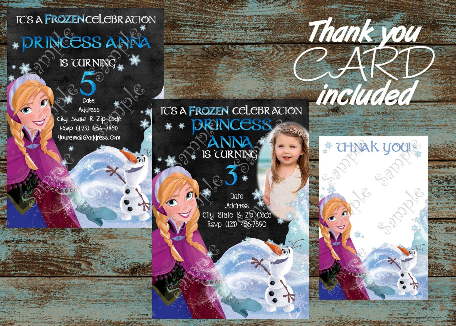 Disney frozen invitation anna and elsa by 954onlineinvitations birthday party supplies by papel pintado disney frozen invitationsshop stopboris Gallery