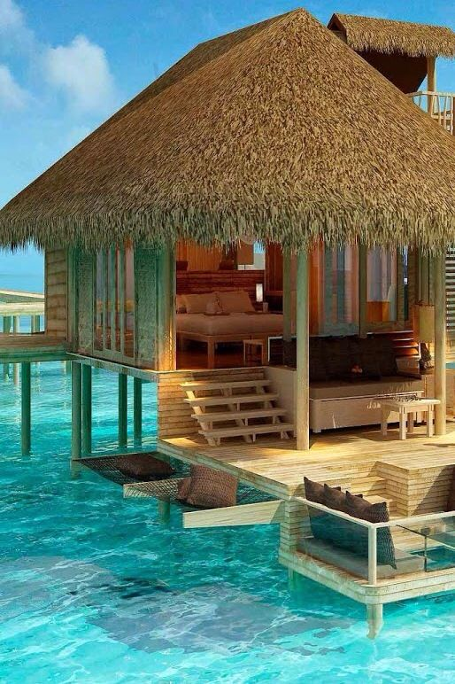 Wooden Hut In Water Dream Vacations
