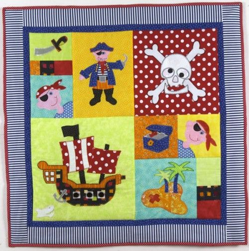 Pirate Party Cot Quilt... $135 | A: Beach/lake/ocean/sea ... : cot quilts patterns - Adamdwight.com