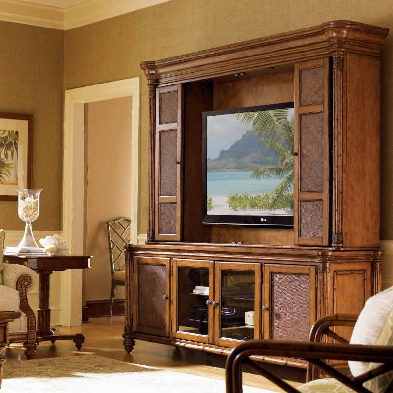 Tommy Bahama By Lexington Home Brands Island Estate Blake Island  Entertainment Console With Optional Hutch
