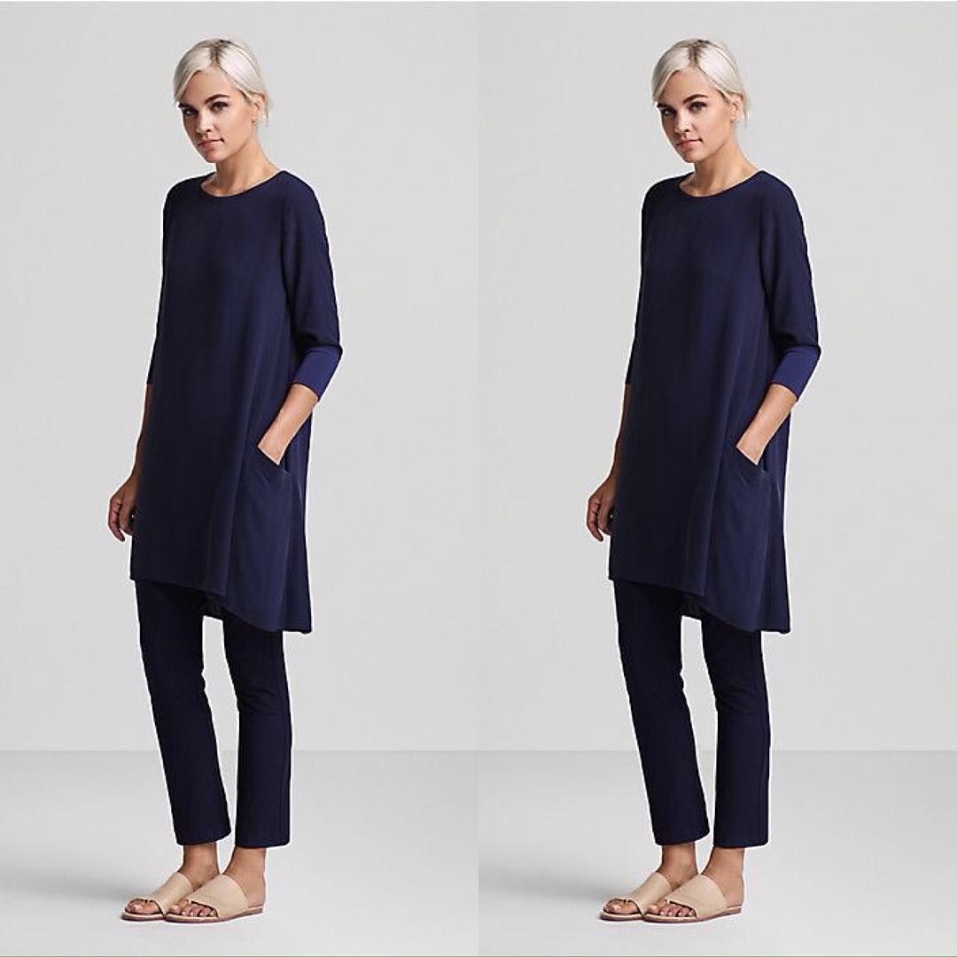 Maybe this Eileen Fisher sleek look will be my new spring uniform ...