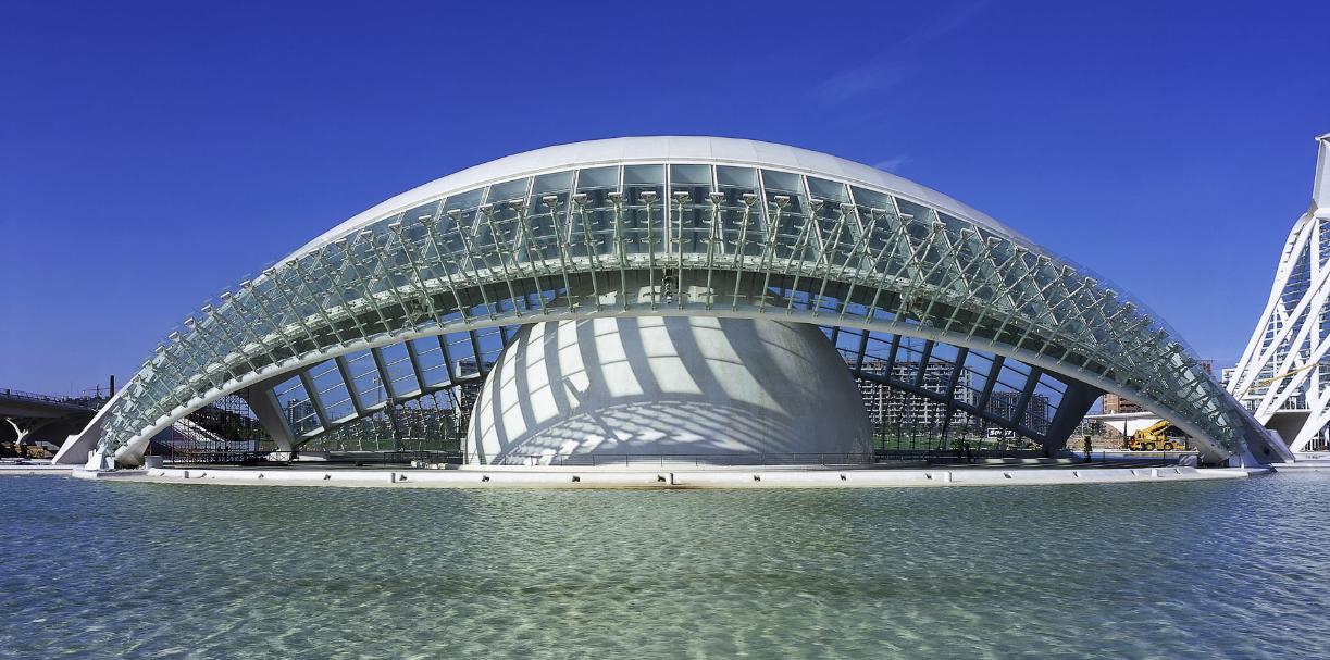 Ciudad De Las Artes Y De Las Ciencias In Valencia Santiago Calatrava Santiago Calatrava Arch Architecture Architecture