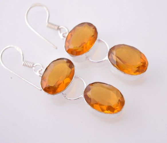 HOLIDAY SPECIAL: Pair of Awesome Looking Honey Quartz Earrings  #15- by WhereDidYouBuyIt on Etsy