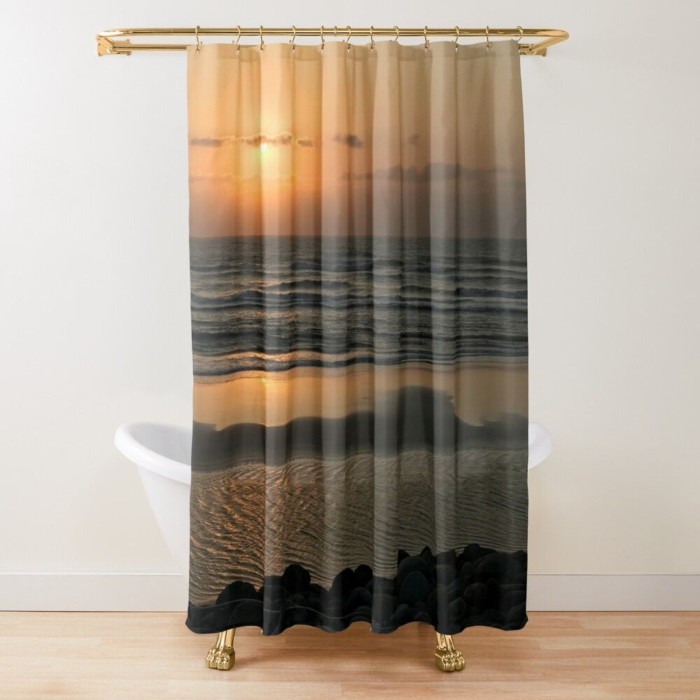 Southern Taiwan Sunset Shower Curtain By Joejiing In 2020 Curtains Shower Curtain Printed Shower Curtain