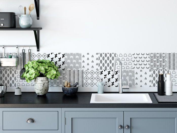 Fliesenaufkleber für Küche und Bad Skandinavische Muster