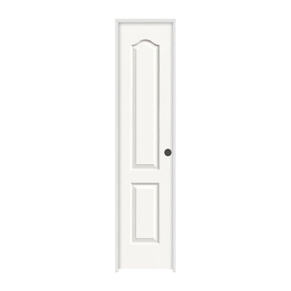 Superbe JELD WEN 18 In. X 80 In. Princeton White Painted Left Hand