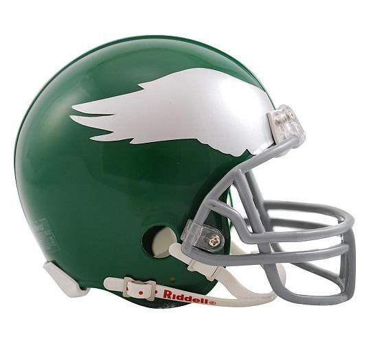 Philadelphia Eagles 1959 To 1969 Riddell Mini Throwback Helmet Football Helmets Philadelphia Eagles Mini Football Helmet