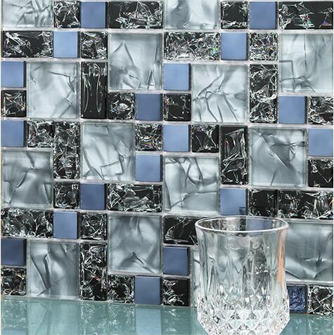Decorative Wall Tiles Kitchen Backsplash Endearing 11Pcs Glass Mosaic Tile Electrooptical Crystal Tv Background Decorating Inspiration