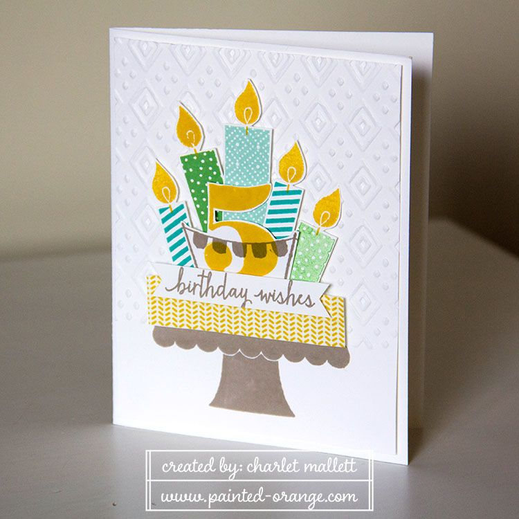 Nicholas 5th Birthday Card Using Build A Birthday Stamp Set And Larger Than Life Stamp Set From