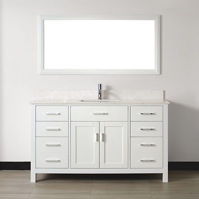Ordinaire With Refined Elegance, The Kelly 60 Vanity In White Makes A Serene  Statement In A Modern, Clean Lined Bathroom. The Stainless Steel Hardware  And Car