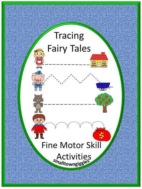 Fine Motor Skills Fairy Tales Tracing Activities P Kk Special