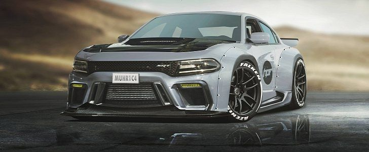 Widebody Dodge Charger Hellcat Rendered As The Coupe Dodge