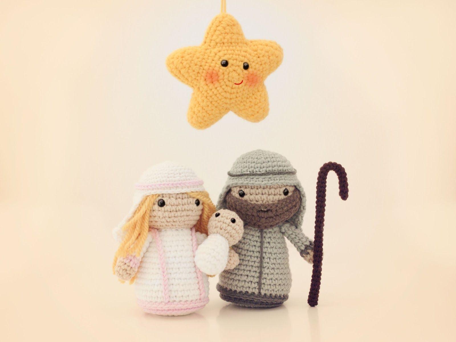 Amigurumi estrella y nacimiento (patron gratuito) | Amigurumi ...