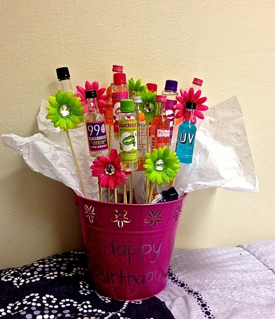 Mini Liquor Bottle Bouquet Ideas 6 Viralinspirations Mini Liquor Bottles Mini Bottle Bouquet Liquor Gifts