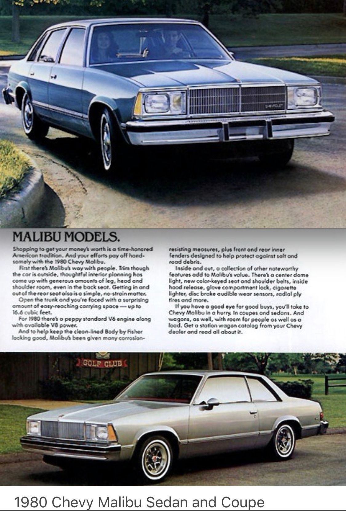 1980 Chevy Malibu Sedan Coupe Usa Chevrolet Malibu Chevy Malibu American Classic Cars