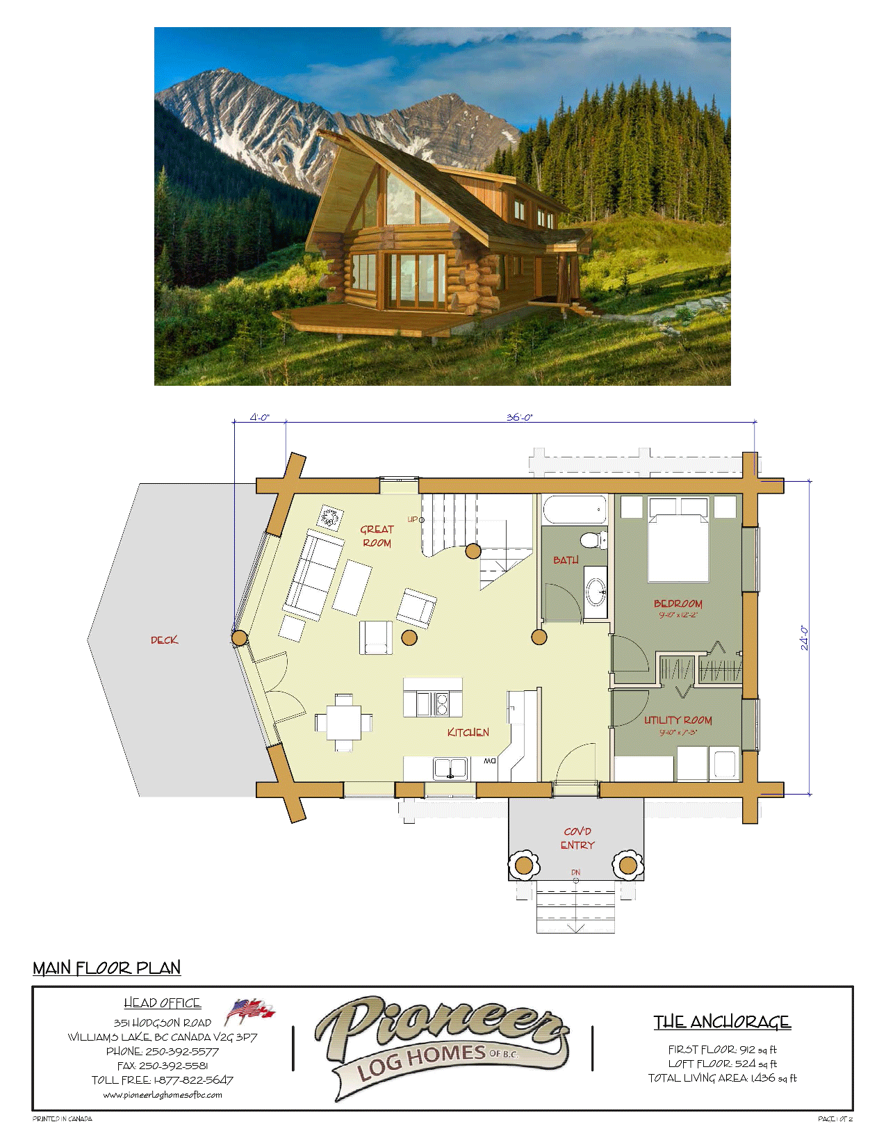 Anchorage Pioneer Log Homes Midwest Log Homes Building Plans House Timber Frame Building