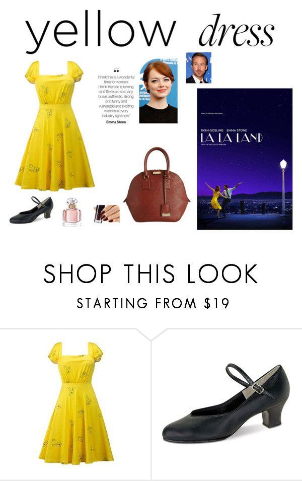 """""""La La Land: Yellow Dresses"""" by ninjakitty3k on Polyvore featuring Danshuz, Guerlain, Chanel and yellowdress"""
