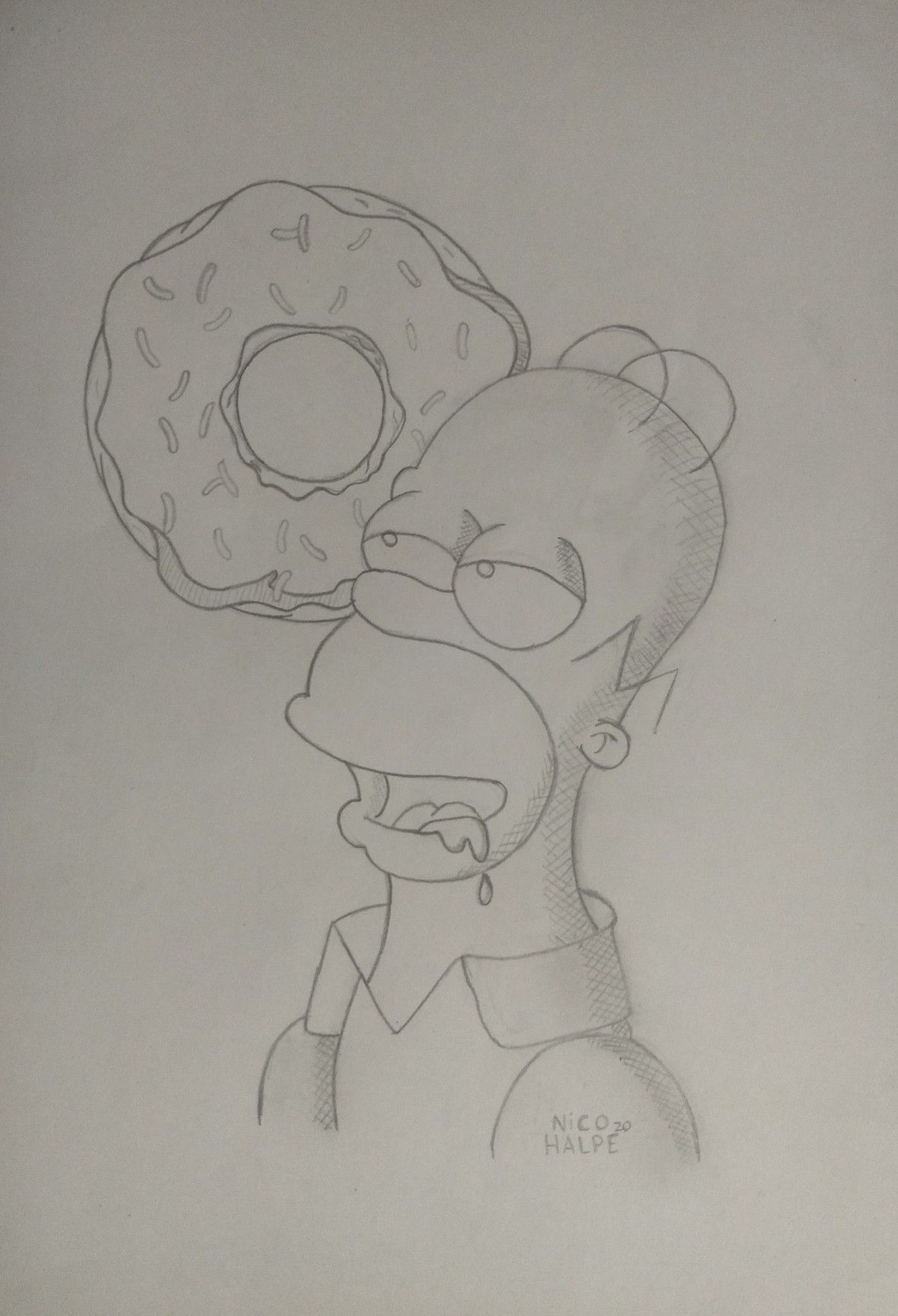 Homero Simpson In 2020 Disney Art Drawings Art Drawings Sketches Pencil Drawings