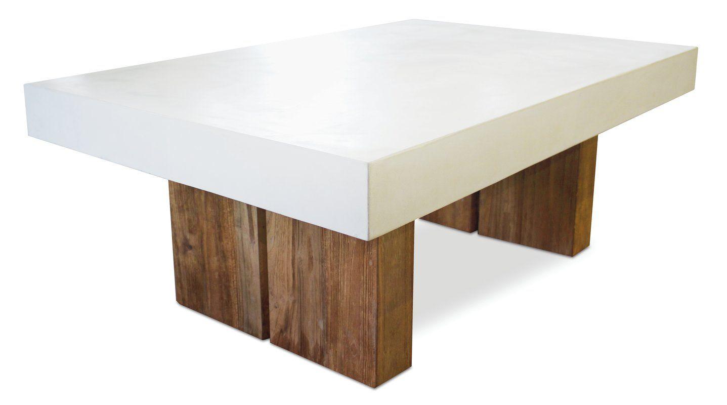 Samos Conrete Coffee Table | Teak, Teak coffee table ...