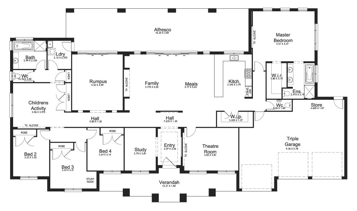 Riverview 48 Acreage Level Floorplan By Kurmond Homes New Home Builders Sydney Nsw House Plans Australia Eco House Plans Modern House Plans