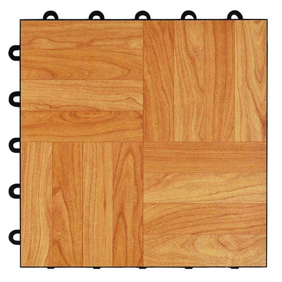 Greatmats MaxTile 26-Pack 12-in X 12-in Light Oak Parquet