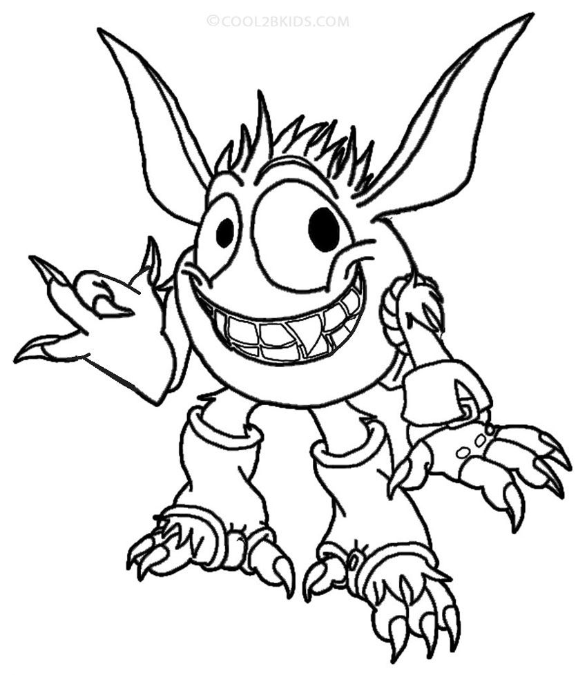 printable skylander giants coloring pages for kids cool2bkids - Skylander Coloring Pages Print