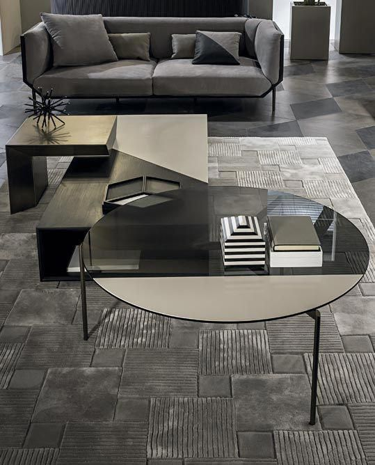 Aurelle Home Amanda Glass Top Rectangle Coffee Table: Shakedesign_Coffee Tables_Lily Round Coffee Table With