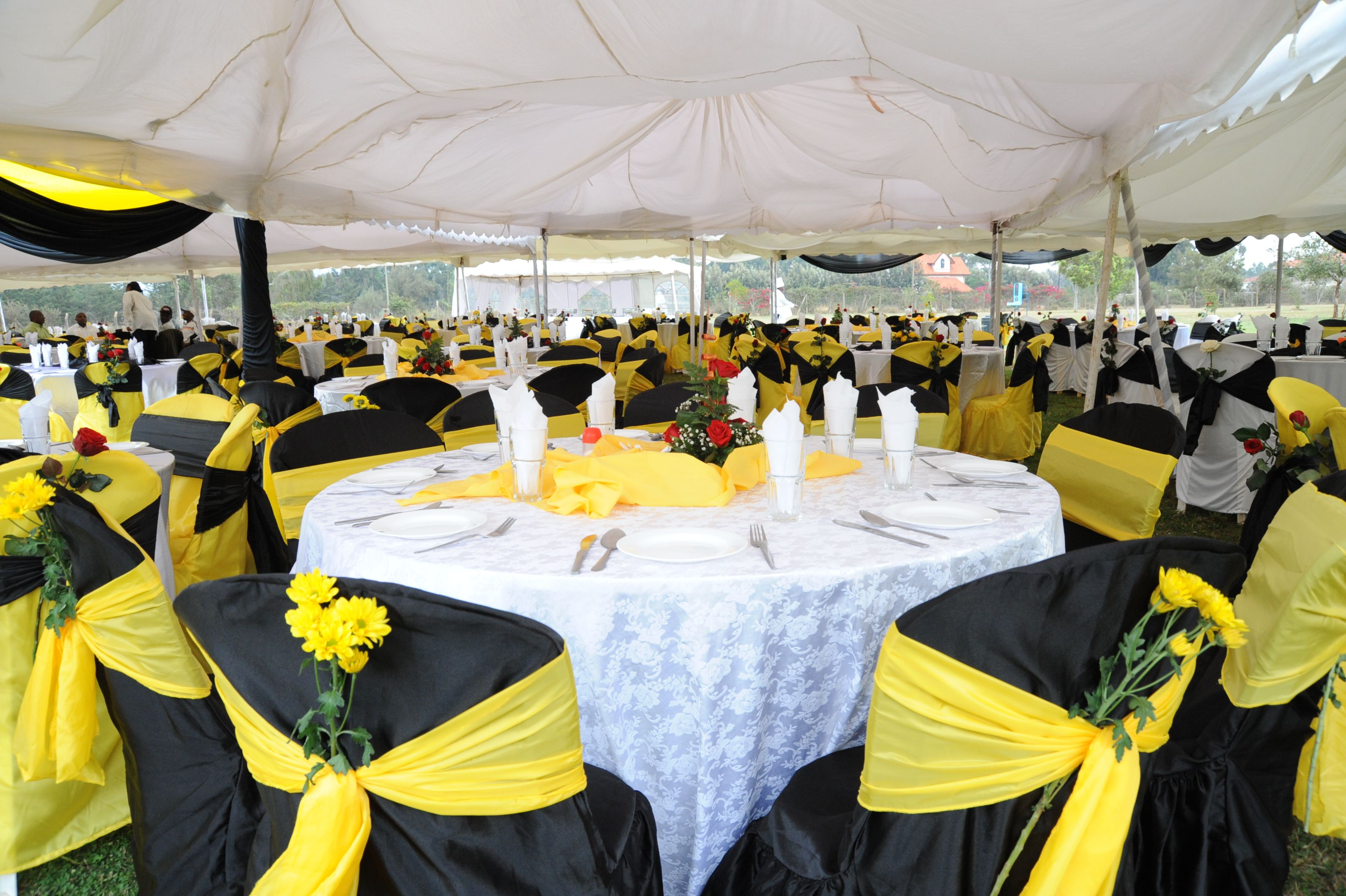 Wedding Services Kenya black and yellow wedding venue