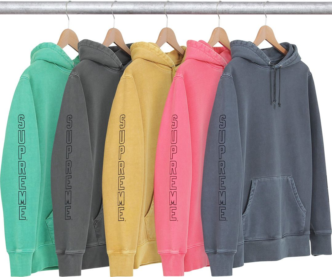 supreme over dyed hooded sweatshirt the piss pinterest. Black Bedroom Furniture Sets. Home Design Ideas