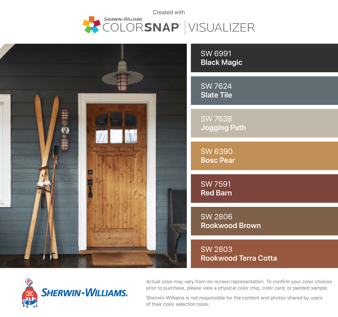 I Found These Colors With Colorsnap Visualizer For Iphone By Sherwin Williams Black Magic Sw