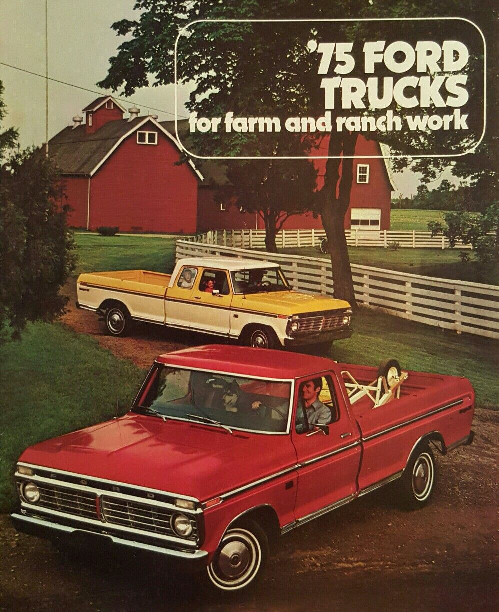 1975 Ford Farm and Ranch Truck Sales Brochure   Cars and Trucks ...