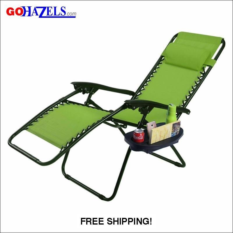 Outdoor Folding Zero Gravity Reclining Lounge Chair Gohazels Com