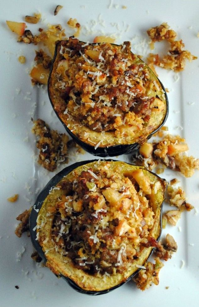 Sausage And Apple Stuffed Acorn Squash That Sounds Good