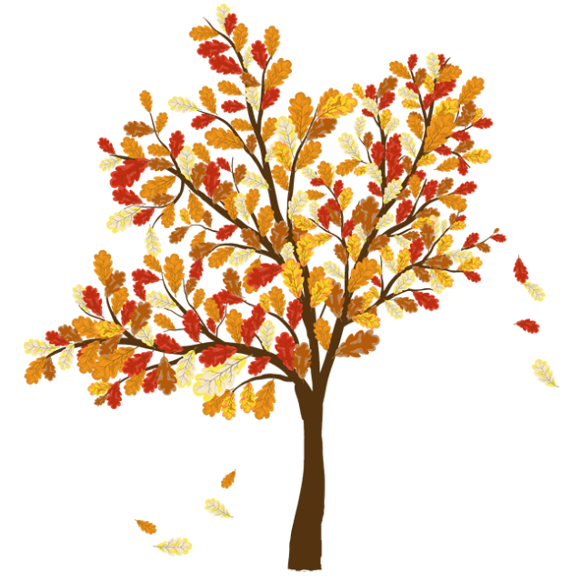 Colorful Clip Art For The Fall Season Autumn Trees Leaves Illustration Tree Illustration