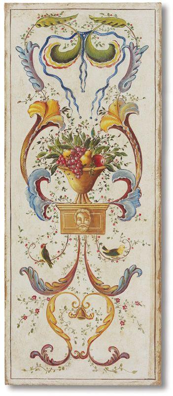 Affreschi catalogo fregi grottesche for Fregi decorativi