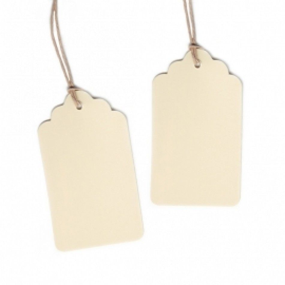 Hanging Label Gift Tags with String - Scallop Cream [DMC98891 ...