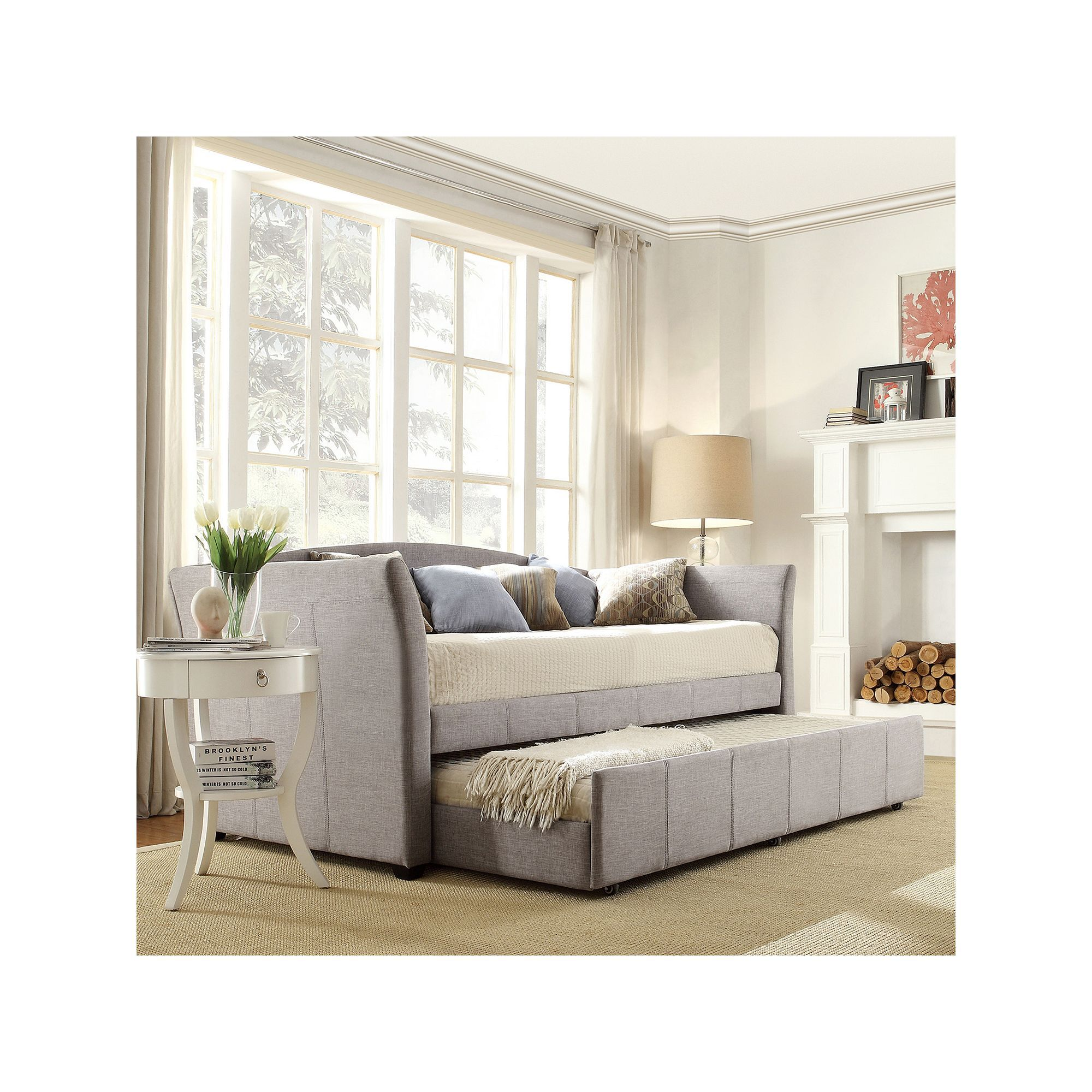 Astounding Homevance Myra Twin Daybed Products Upholstered Daybed Ncnpc Chair Design For Home Ncnpcorg