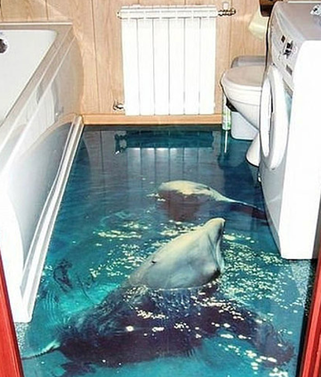 These 3D Underwater Scenes On Bathroom Floors Don\'t Look Real ...