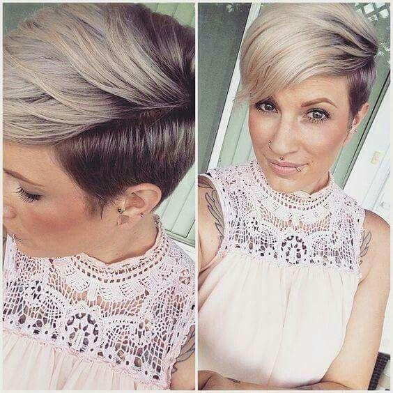 Ombre Pixie Short Hair Color Short Hair Styles Super Short Hair