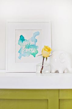 Watercolor Phrase Wall Art DIY - Con otra frase, está genial